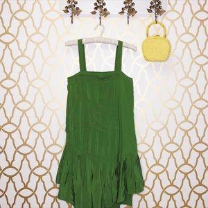 NWT Tibi Green Silk Cocktail Dress